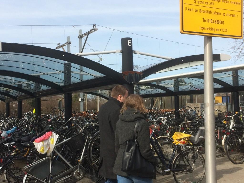 Alle fietsenstallingen op de stations zijn genummerd.