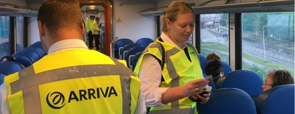 Handhaving in de trein 2